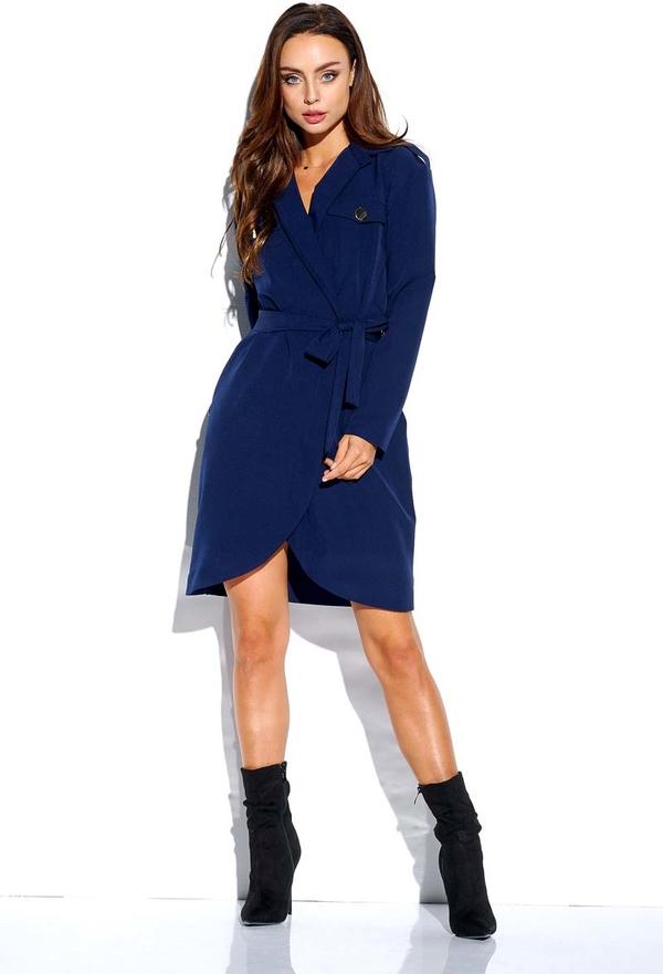 Niebieska sukienka Lemoniade w stylu casual z dekoltem w kształcie litery v