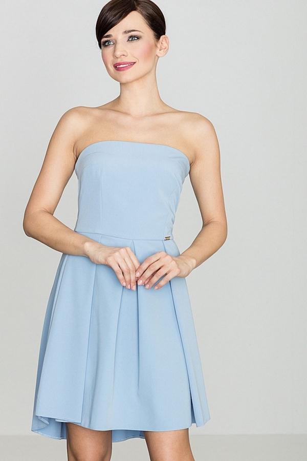 Niebieska sukienka LENITIF gorsetowa