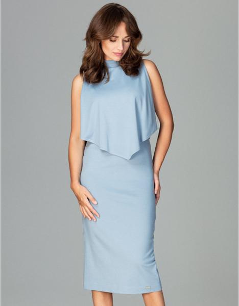 Niebieska sukienka LENITIF midi