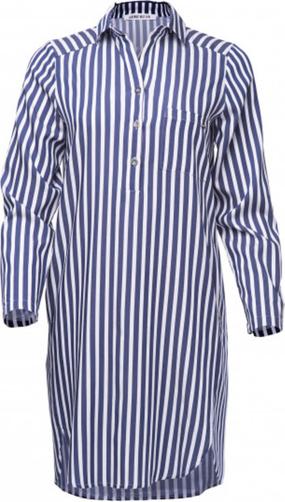 Niebieska sukienka Look made with love z tkaniny wyszczuplająca w stylu casual