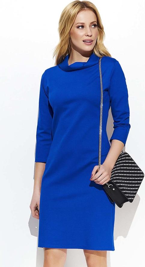 Niebieska sukienka Makadamia w stylu casual