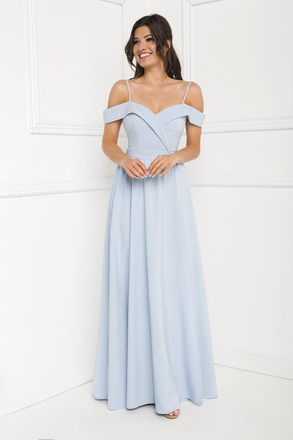 Niebieska sukienka Marcelini na ramiączkach