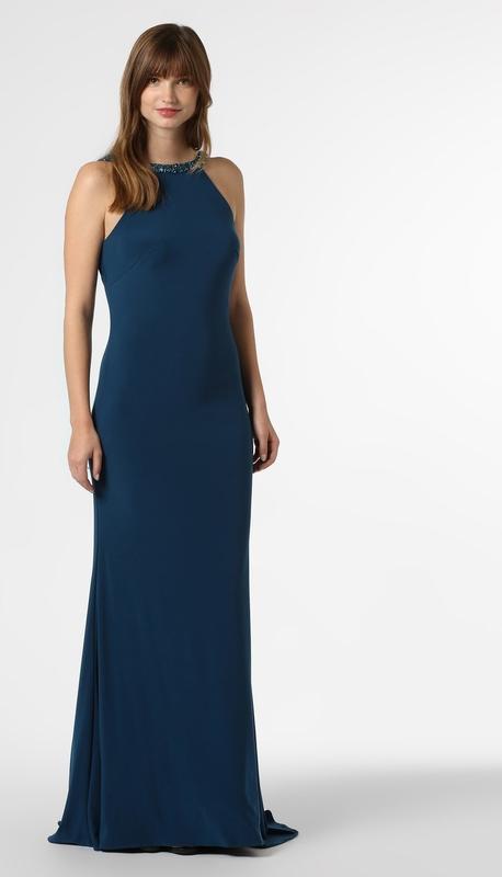 Niebieska sukienka Mascara z okrągłym dekoltem