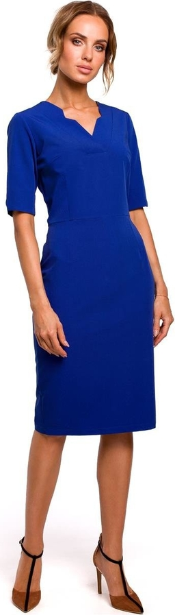 Niebieska sukienka Merg midi