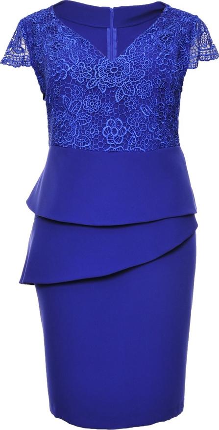 Niebieska sukienka modneduzerozmiary.pl baskinka