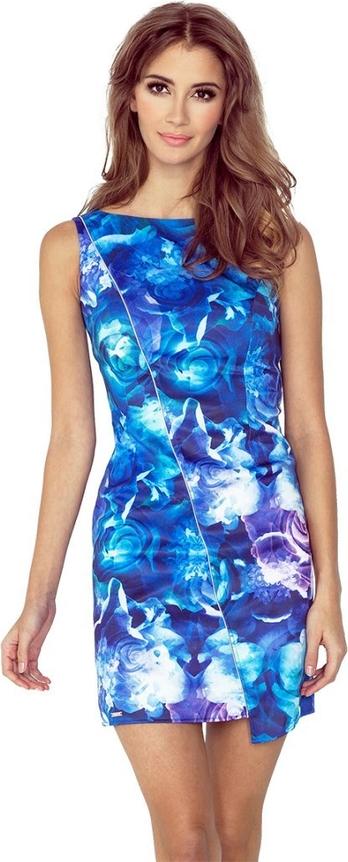 Niebieska sukienka MORIMIA asymetryczna bez rękawów