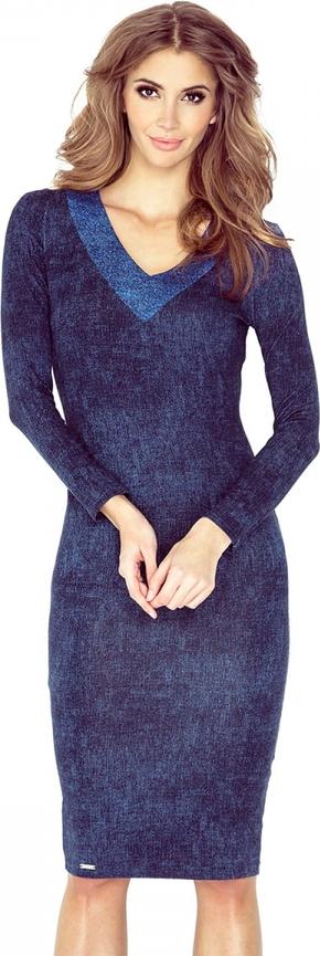 Niebieska sukienka MORIMIA z długim rękawem
