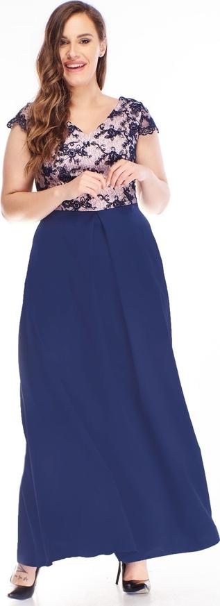 Niebieska sukienka N/A baskinka z dekoltem w kształcie litery v z krótkim rękawem