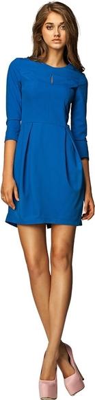 Niebieska sukienka Nife bombka