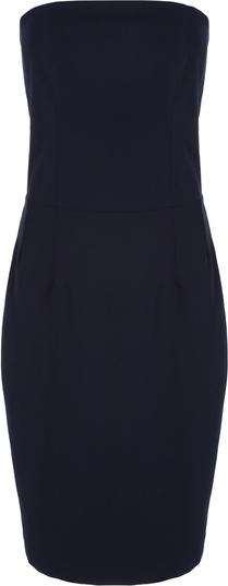 Niebieska sukienka Nife mini bez rękawów z okrągłym dekoltem