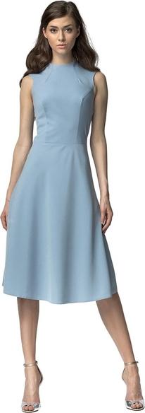 Niebieska sukienka Nife z bawełny midi