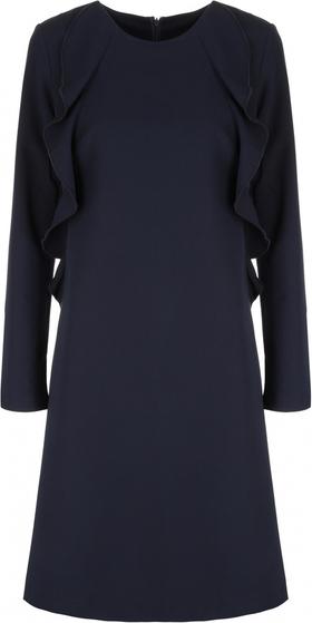 Niebieska sukienka Nife z długim rękawem