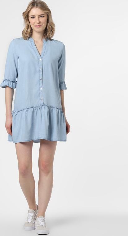 Niebieska sukienka Noisy May mini w stylu casual z długim rękawem