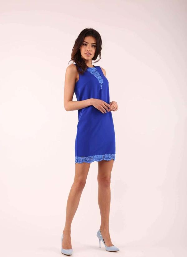 Niebieska sukienka Nommo bez rękawów