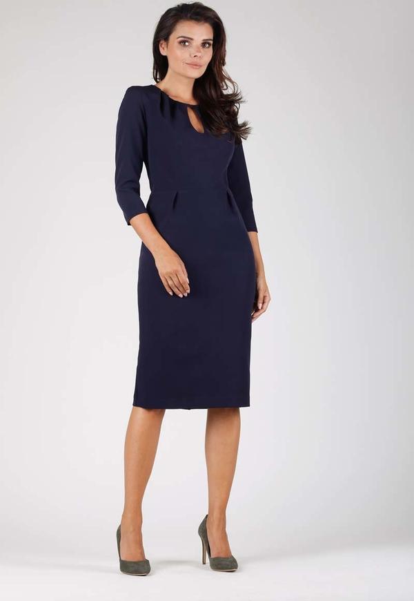 Niebieska sukienka Nommo midi