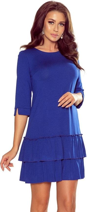 Niebieska sukienka NUMOCO mini trapezowa
