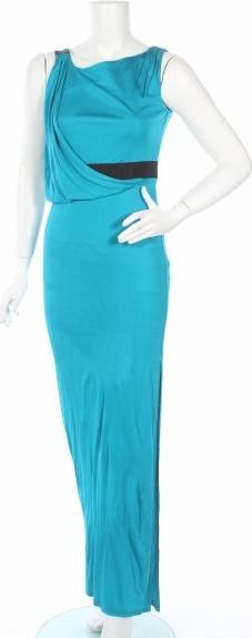 Niebieska sukienka Ossie Clark maxi