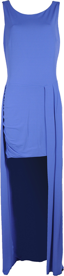 """Niebieska sukienka Patrizia Pepe Sukienka """"asimetric"""" asymetryczna bez rękawów"""