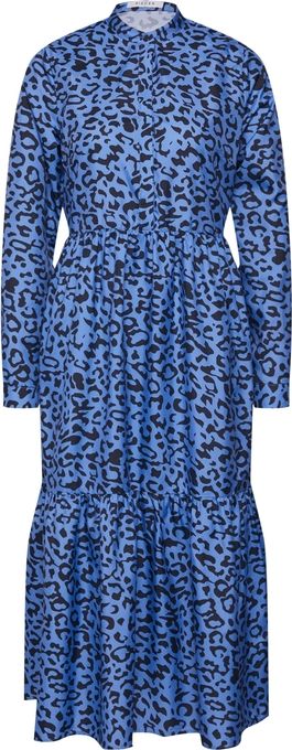 Niebieska sukienka Pieces z dekoltem w kształcie litery v midi w stylu casual