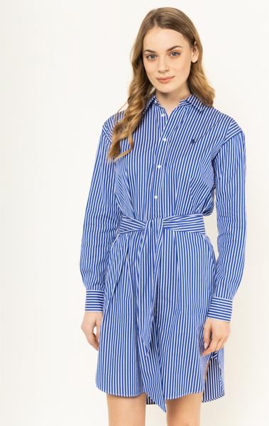 Niebieska sukienka POLO RALPH LAUREN koszulowa