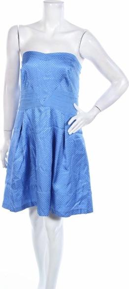 Niebieska sukienka Portmans mini bez rękawów