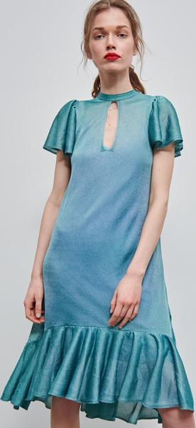 Niebieska sukienka Reserved z weluru