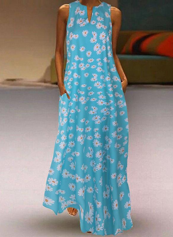 Niebieska sukienka Sandbella