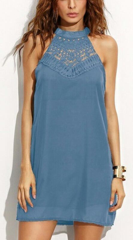 Niebieska sukienka Sandbella bez rękawów