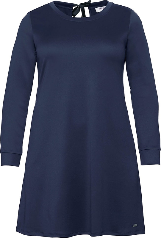 Niebieska sukienka Sheego z okrągłym dekoltem