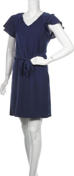 Niebieska sukienka Steps prosta mini