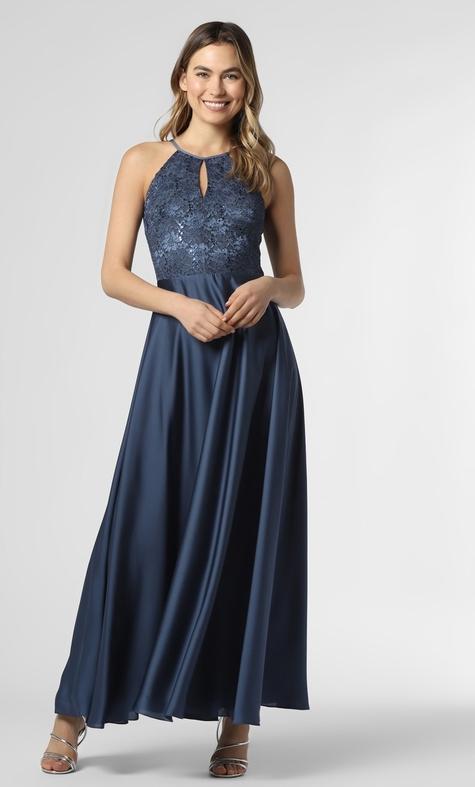 Niebieska sukienka Swing