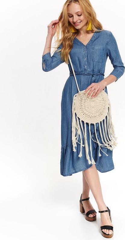 Niebieska sukienka Top Secret w stylu casual