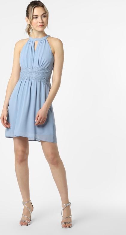 Niebieska sukienka Vila bez rękawów mini