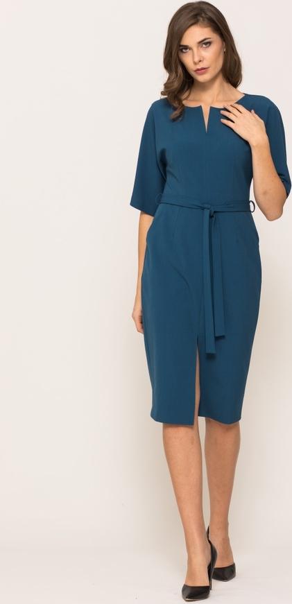 Niebieska sukienka VISSAVI prosta