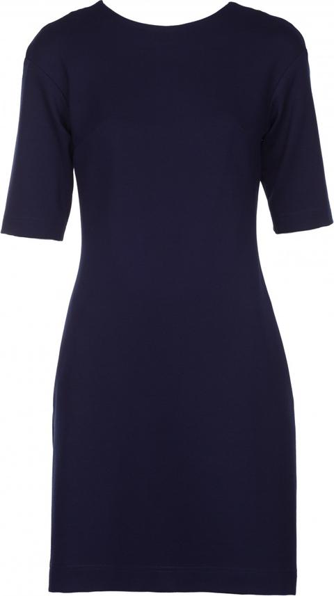 Niebieska sukienka VISSAVI z dzianiny dopasowana