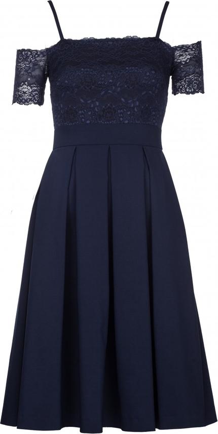 Niebieska sukienka VISSAVI z krótkim rękawem