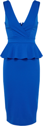 Niebieska sukienka wal g. midi na sylwestra