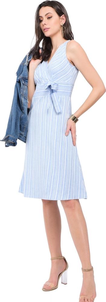 Niebieska sukienka William De Faye