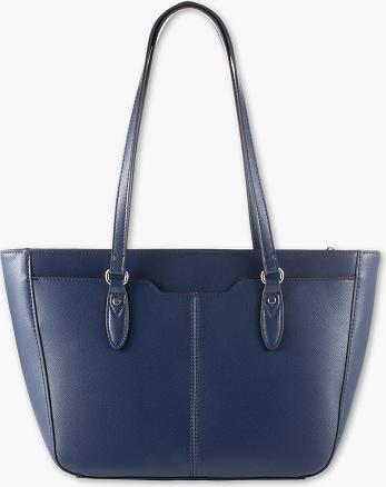 Niebieska torebka C&A na ramię w wakacyjnym stylu duża