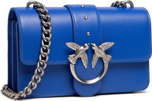 Niebieska torebka Pinko matowa mała