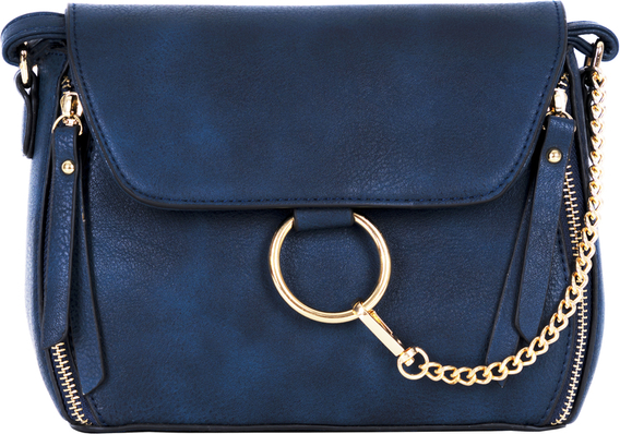 Niebieska torebka Torebki Inspirowane na ramię średnia w stylu casual