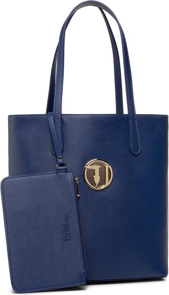 Niebieska torebka Trussardi Jeans duża