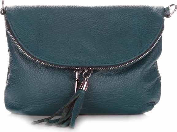 Niebieska torebka Vera Pelle w stylu casual mała matowa