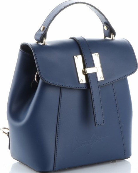 Niebieska torebka VITTORIA GOTTI średnia do ręki ze skóry