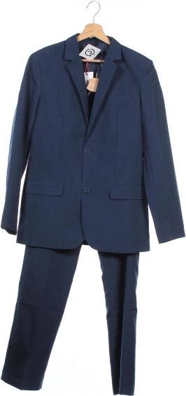 Niebieski garnitur ARIZONA z wełny