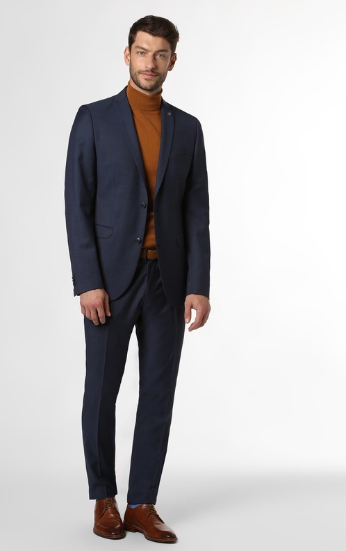 Niebieski garnitur CG - Club of Gents z wełny