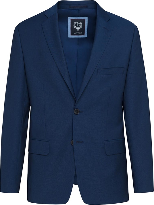 Niebieski garnitur Lavard z tkaniny