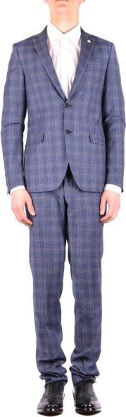 Niebieski garnitur Manuel Ritz z wełny