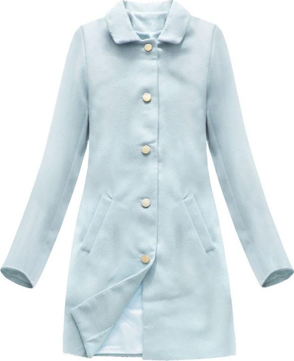 Niebieski płaszcz ITALY MODA w stylu casual
