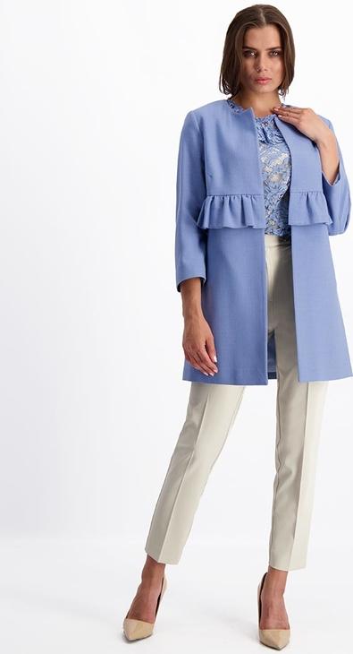 Niebieski płaszcz Lavard w stylu casual